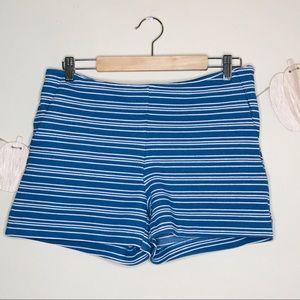 🔥 dalia white blue stripe shorts